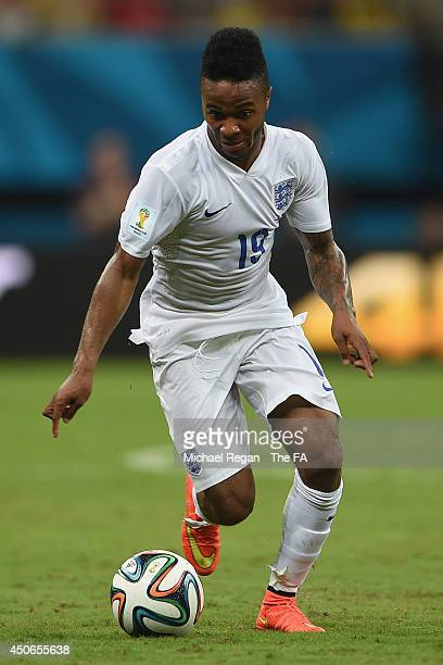 Raheem Sterling of England in action during the 2014 FIFA World Cup Brazil Group D match between England and Italy at Arena Amazonia on June 14 2014...