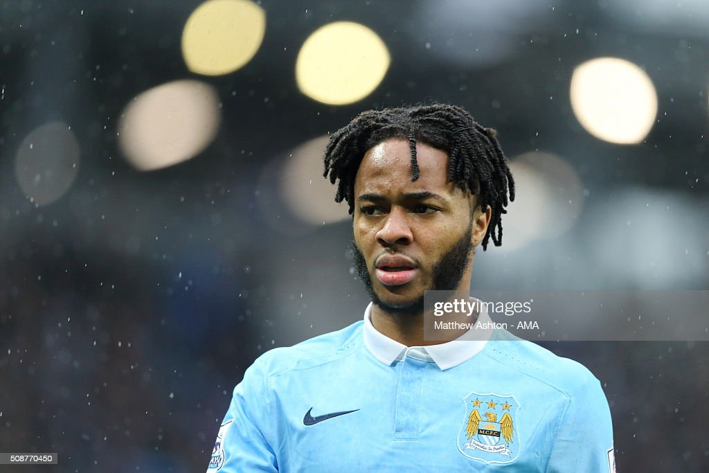 <a gi-track='captionPersonalityLinkClicked' href=/galleries/search?phrase=Raheem+Sterling&family=editorial&specificpeople=6489439 ng-click='$event.stopPropagation()'>Raheem Sterling</a> of Manchester City during the Barclays Premier League match between Manchester City and Leicester City at the Etihad Stadium on February 06, 2016 in Manchester, England.