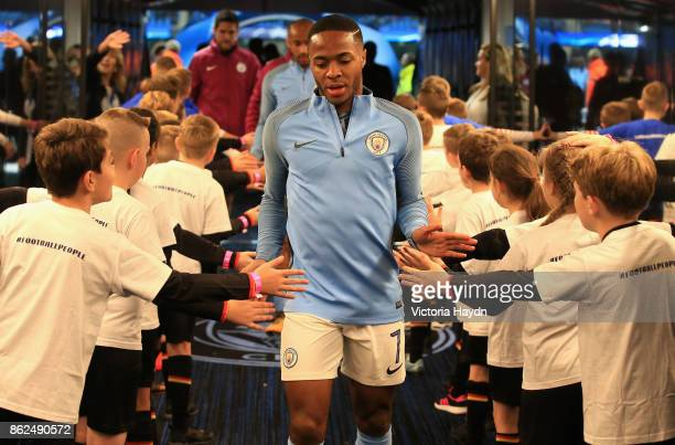Raheem Sterling of Manchester City enters the tunnel during the UEFA Champions League group F match between Manchester City and SSC Napoli at Etihad...