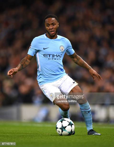 Raheem Sterling of Manchester City in action during the UEFA Champions League group F match between Manchester City and Feyenoord at Etihad Stadium...