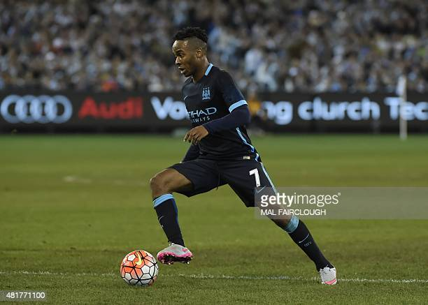 Raheem Stirling of Manchester City plays during the International Champions Cup football match between English Premier League team Manchester City...