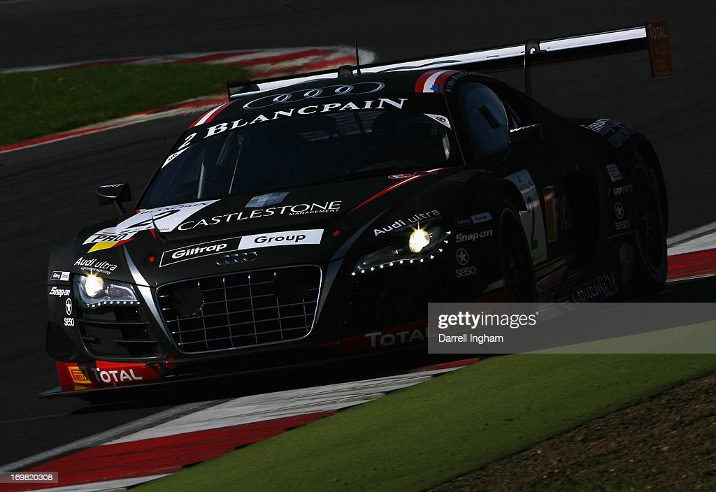 Rahel Frey of Switzerland drives the Belgian Audi Club Team WRT Audi R8 LMS Ultra during the Blancpain Endurance GT Series race at the Silverstone...