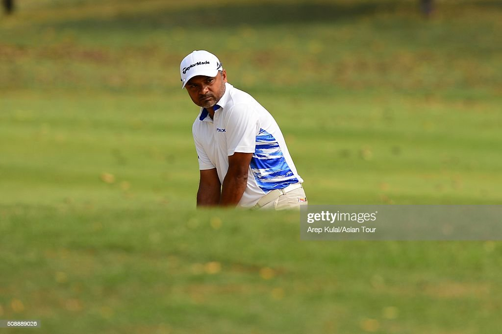 Rahil Gangjee of India pictured during the final round of the Leopalace21 Myanmar Open at Royal Mingalardon Golf and Country Club on February 7, 2016 in Yangon, Myanmar.