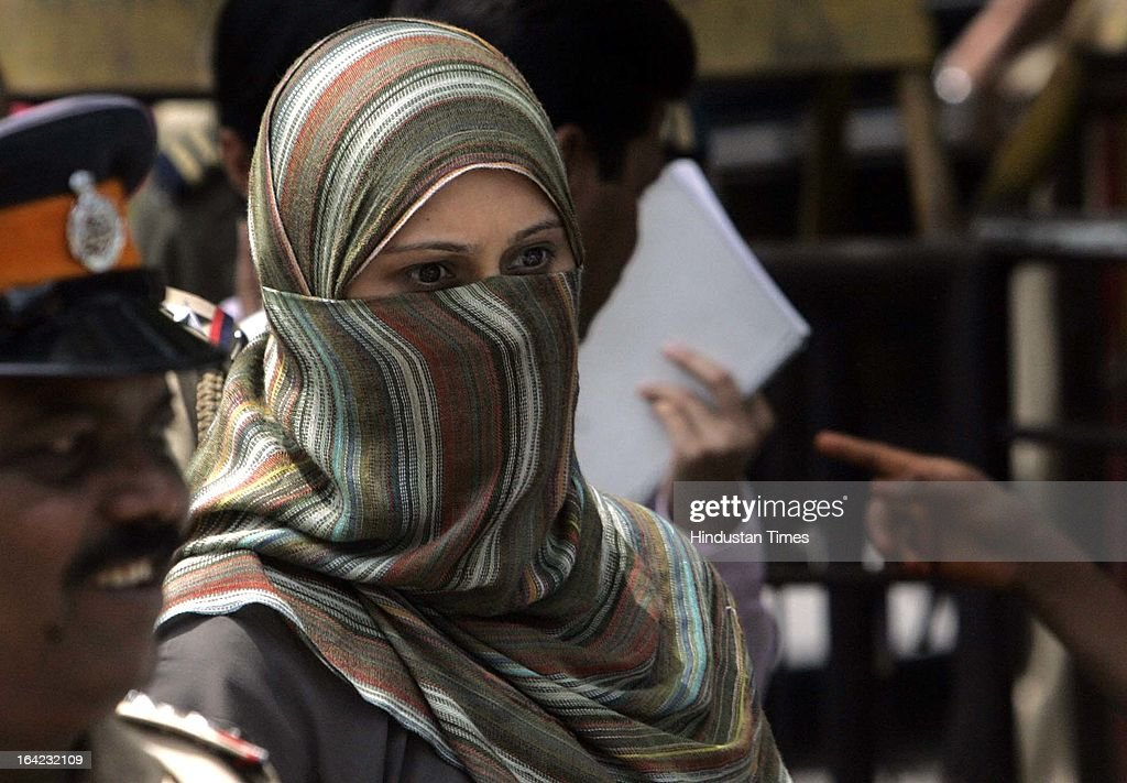 Rahin Memon wife of one of the prime accused Yakub Memon, who has been acquitted by TADA court in the 1993 Mumbai blast case on May 9, 2007 in Mumbai, India. On March 21, 2013 after 20-year-long judicial proceedings in 1993 Mumbai Serial Bomb Blasts Case, Supreme Court upheld the death sentence of Yakub Abdul Razak Memon, a key conspirator with Dawood Ibrahim in the 1993 Mumbai serial blasts, and ordered that Bollywood actor Sanjay Dutt return to jail to serve three-and-a-half years sentence for possessing illegal arms. 257 people were killed in serial blasts in Mumbai on March 12, 1993.