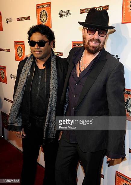 R Rahman and Dave Stewart celebrate the release of the new CD 'SuperHeavy' at The Double Seven on September 21 2011 in New York City