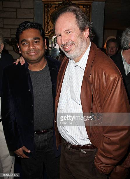 R Rahman and 'Inception' composer Hans Zimmer attend SCL presents annual preOscar champagne reception honoring 2011 Academy Award nominees in score...