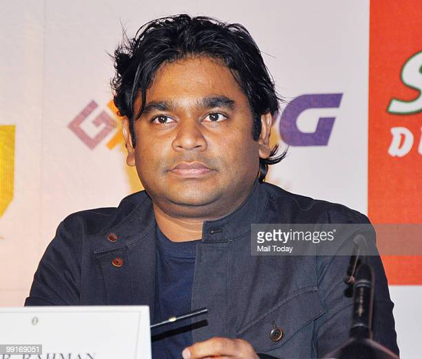 Rahman at the launch of a kids music album in Mumbai on May 12 2010