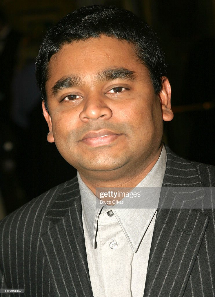 A R Rahman during Opening Night Of A R Rahman's Hit Musical 'Bombay Dreams' - Arrivals and Curtain Call at Broadway Theater in New York, United States.