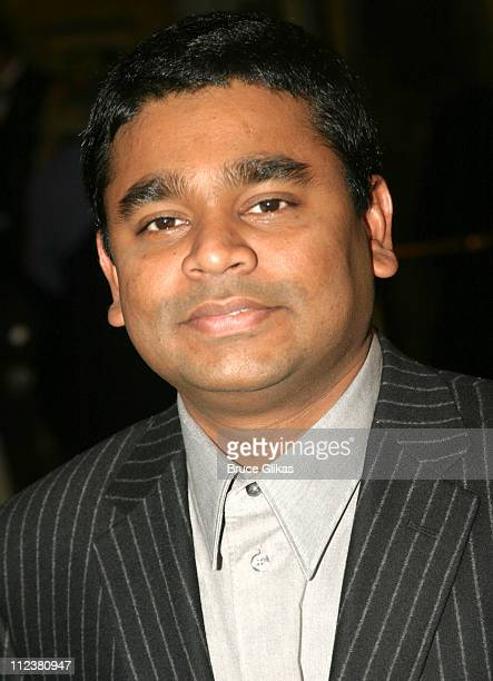 A R Rahman during Opening Night Of A R Rahman's Hit Musical 'Bombay Dreams' Arrivals and Curtain Call at Broadway Theater in New York United States