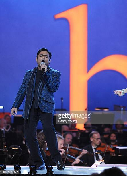 R Rahman performs during the Nobel Peace Prize Concert at Oslo Spektrum on December 11 2010 in Oslo Norway