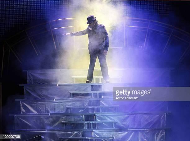 Rahman performs during the opening night of the AR Rahman Jai Ho Concert The Journey Home World Tour at Nassau Veterans Memorial Coliseum on June 11...