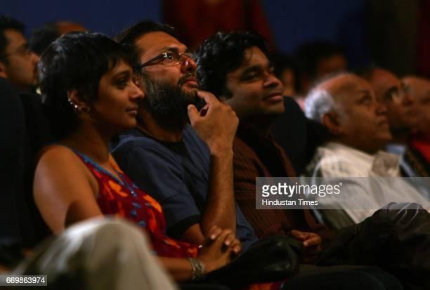 R Rahman Subhash Ghai and Rakesh Mehra at Whistling Woods International where Rahman inaugurated a new sound studio