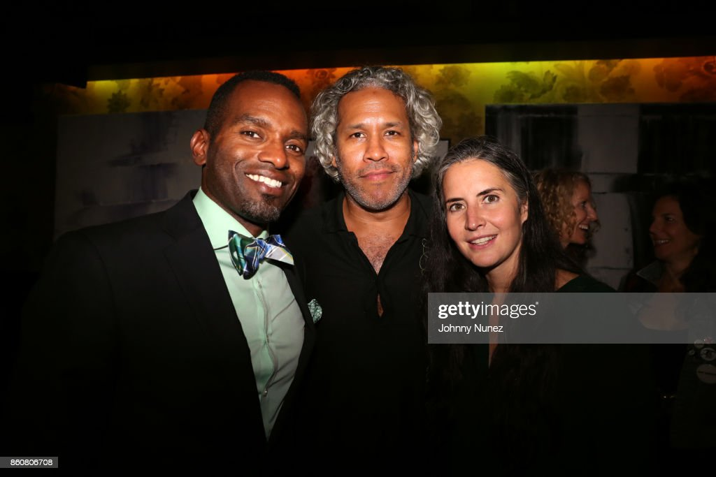 Rahsan Lindsay, Khary Lazarre-White, and Clara Markowicz attend the Khary Lazarre White 'Passage' Book Release Party at Beautique on October 12, 2017 in New York City.