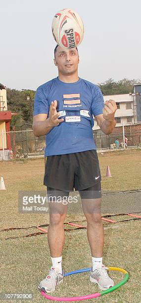Rahul Bose at Mumbai Marathon's training programme organised by The Foundation and Rahul Bose in Mumbai