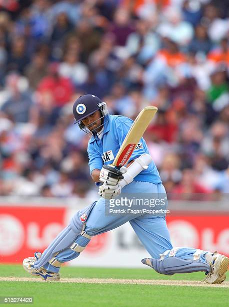 Rahul Dravid batting during the NatWest Series One Day International between India and Sri Lanka at The Oval London 30th June 2002 India won by 4...