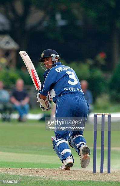Rahul Dravid batting for Scotland in the National League match between Middlesex and Scotland at Old Deer Park Richmond 17th June 2003