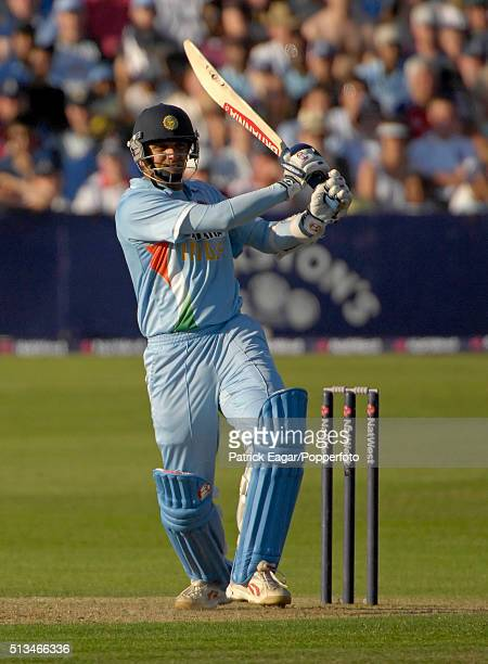 Rahul Dravid of India batting during his 92 not out in the NatWest Series One Day International between England and India at Bristol 24th August 2007...