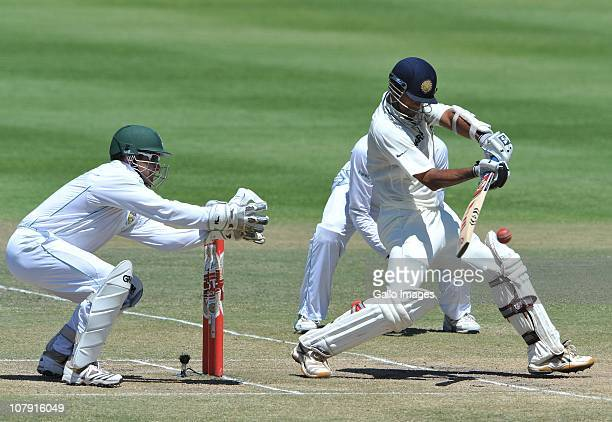 Rahul Dravid of India during day 5 of the 3rd Test match between South Africa and India at Newlands Stadium on January 06 2011 in Cape Town South...