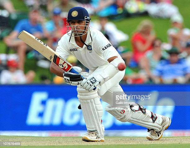 Rahul Dravid of India in action during day 3 of the 1st Test match between South Africa and India at SuperSport Park on December 18 2010 in Centurion...