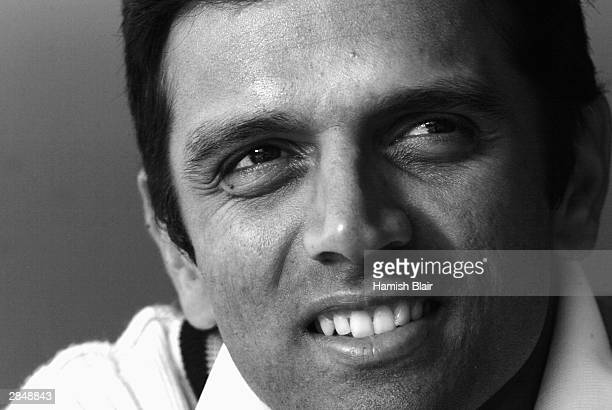Rahul Dravid of India looks on during day two of the Tour Match between India and Australia A played at Bellerive Oval on December 20 2003 in Hobart...