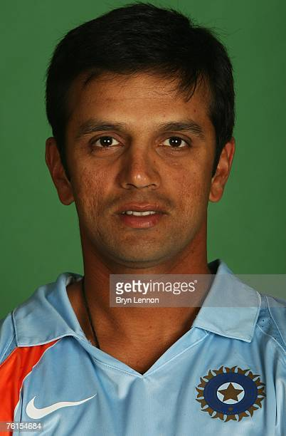 Rahul Dravid poses during a photo call at the Marriott Hotel on August 17 2007 in Northampton England