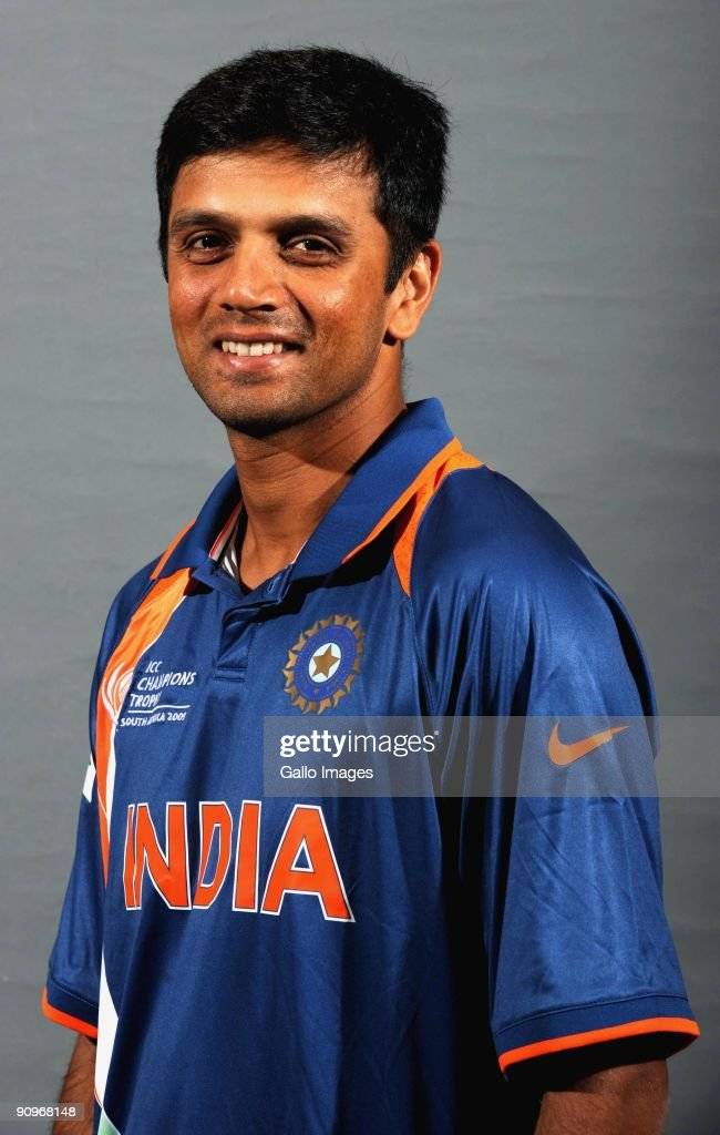 <a gi-track='captionPersonalityLinkClicked' href=/galleries/search?phrase=Rahul+Dravid&family=editorial&specificpeople=211062 ng-click='$event.stopPropagation()'>Rahul Dravid</a> poses during the ICC Champions photocall session of the Indian cricket team at Sandton Sun on September 19, 2009 in Sandton, South Africa.