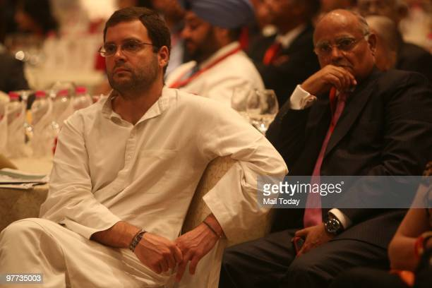 Rahul Gandhi and India Today editor Prabhu Chawla at the second day of the India Today Conclave in New Delhi on March 13 2010
