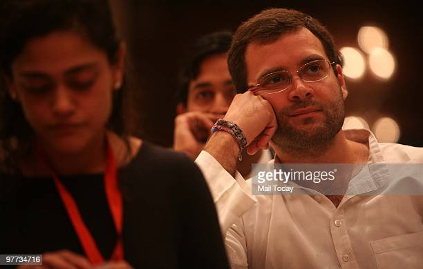 Rahul Gandhi at the second day of the India Today Conclave in New Delhi on March 13 2010