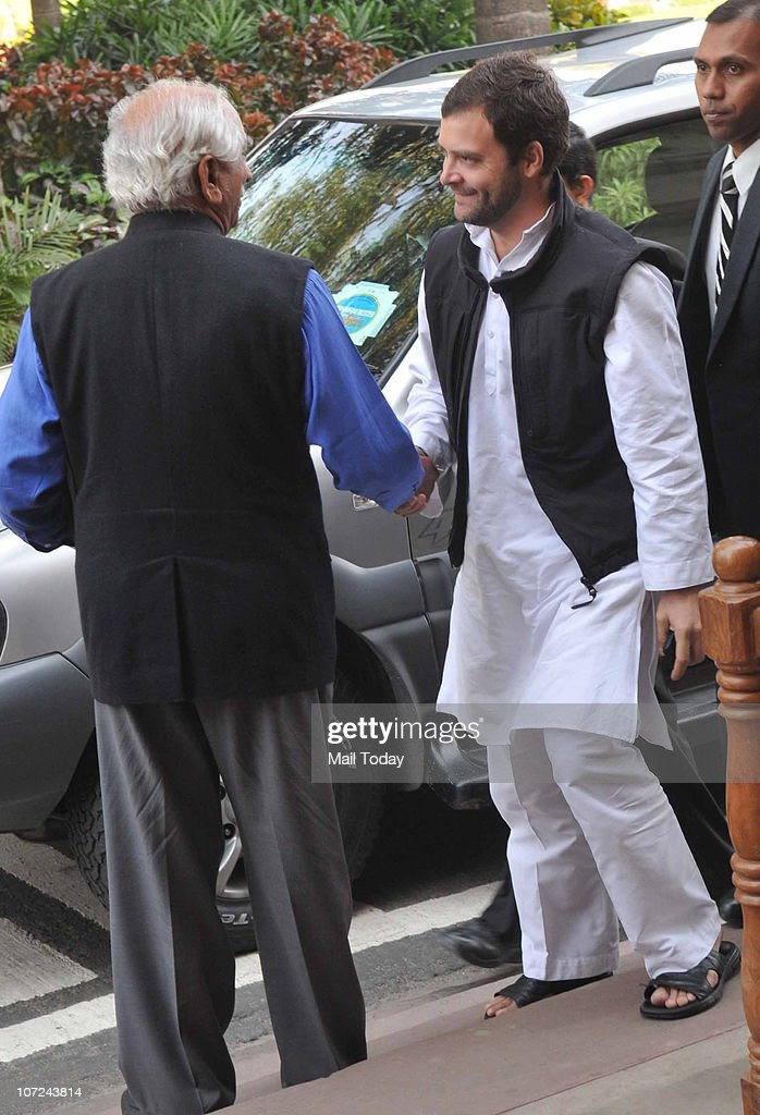 <a gi-track='captionPersonalityLinkClicked' href=/galleries/search?phrase=Rahul+Gandhi&family=editorial&specificpeople=171802 ng-click='$event.stopPropagation()'>Rahul Gandhi</a> greets BJP leader <a gi-track='captionPersonalityLinkClicked' href=/galleries/search?phrase=Jaswant+Singh&family=editorial&specificpeople=220287 ng-click='$event.stopPropagation()'>Jaswant Singh</a> at the parliament house during the ongoing winter session in New Delhi on December 1, 2010.