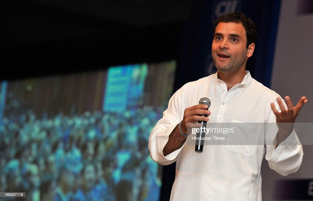 Rahul Gandhi, Vice President Indian National Congress during special plenary session of CII Annual General Meeting and National Conference 2013 at The Ashoka hotel on April 4, 2013 in New Delhi, India.