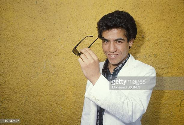 Rai singer Cheb Mami in Paris France on May 29 1986