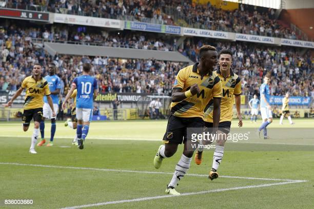 Rai Vloet of NAC Breda Derrick Luckassen of PSV Marco van Ginkel of PSV Thierry Ambrose of NAC Breda Manu Garcia of NAC Breda during the Dutch...