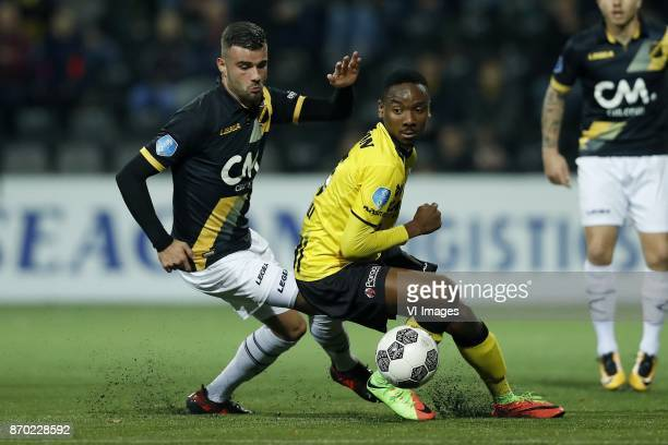 Rai Vloet of NAC Breda Kelechi Nwakali of VVV Venlo during the Dutch Eredivisie match between VVV Venlo and NAC Breda at Seacon stadium De Koel on...
