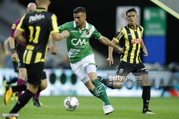 Rai Vloet of NAC Breda Navarone Foor of Vitesse during the Dutch Eredivisie match between Vitesse Arnhem and NAC Breda at Gelredome on August 12 2017...