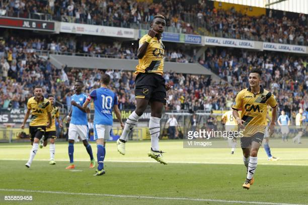 Rai Vloet of NAC Breda Nicolas IsimatMirin of PSV Marco van Ginkel of PSV Thierry Ambrose of NAC Breda Manu Garcia of NAC Breda during the Dutch...