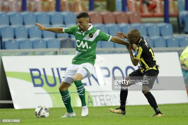 Rai Vloet of NAC Breda Thulani Serero of Vitesse during the Dutch Eredivisie match between Vitesse Arnhem and NAC Breda at Gelredome on August 12...