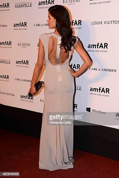 Raica de Oliveira attends amfAR's Inspiration Gala Sao Paulo on April 4 2014 in Sao Paulo Brazil