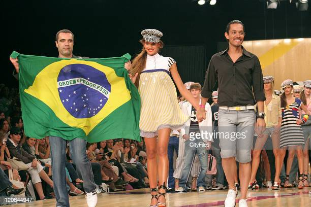 Raica Oliveira and TNG fashion designer during Rio Fashion Week Spring/Summer 2007 TNG Runway and Backstage at Rio de Janiero in Rio de Janiero Brazil