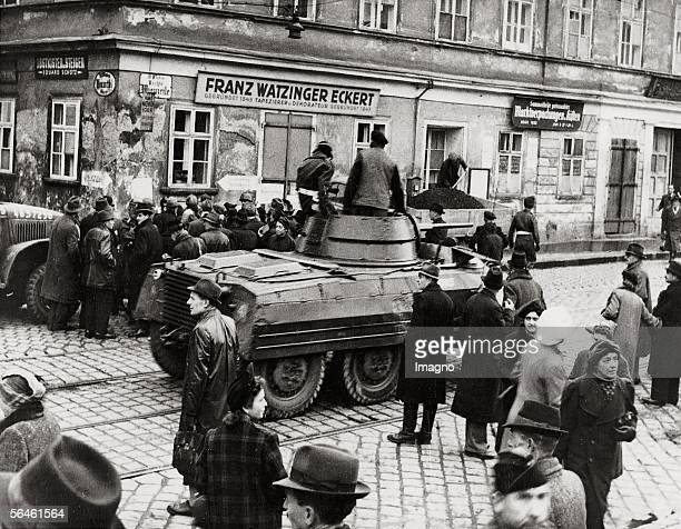 Raid towards the Black Marketing at the Vienna Naschmarkt Austria Photograph 1945 [Razzia gegen den Schwarzhandel am Wiener Naschmarkt oesterreich...