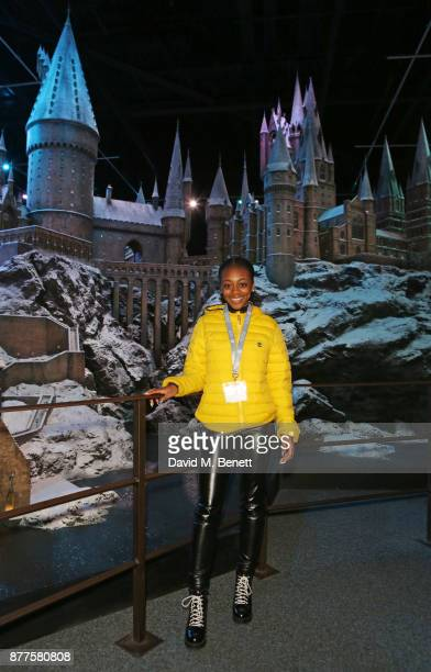 RaiElle Williams attends the VIP launch of 'Hogwarts In The Snow' at Warner Bros Studio Tour London The Making Of Harry Potter on November 22 2017 in...