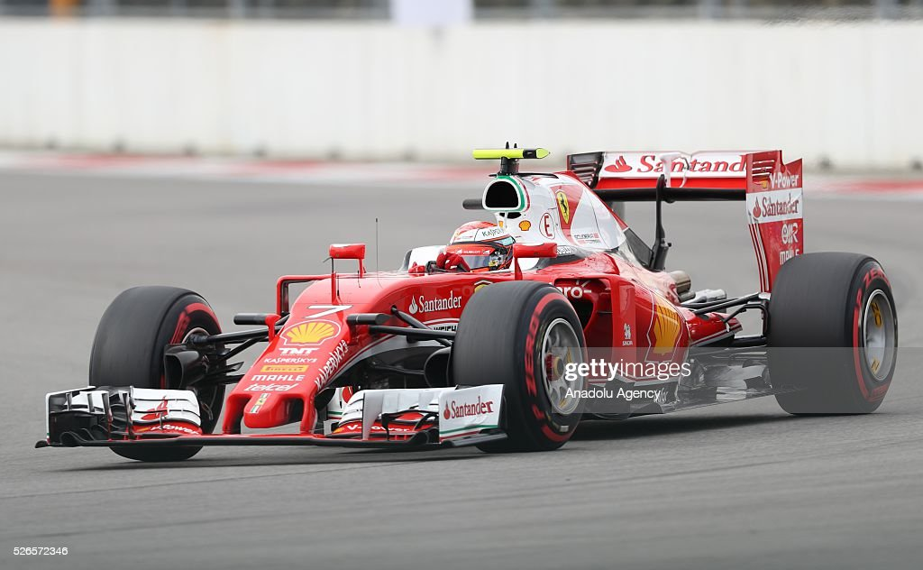 K. Raikkonen is seen on track during the qualifying session of the Formula One Russian Grand Prix at the Sochi Autodrom circuit in Sochi, Russia on April 30, 2016.