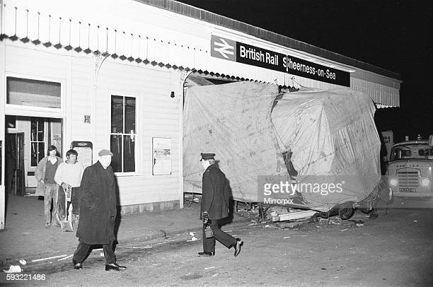 Rail accident at SheernessonSea station at 1857 on Friday 26th February 1971 the 1716 service from Victoria failed to stop Consequently the...