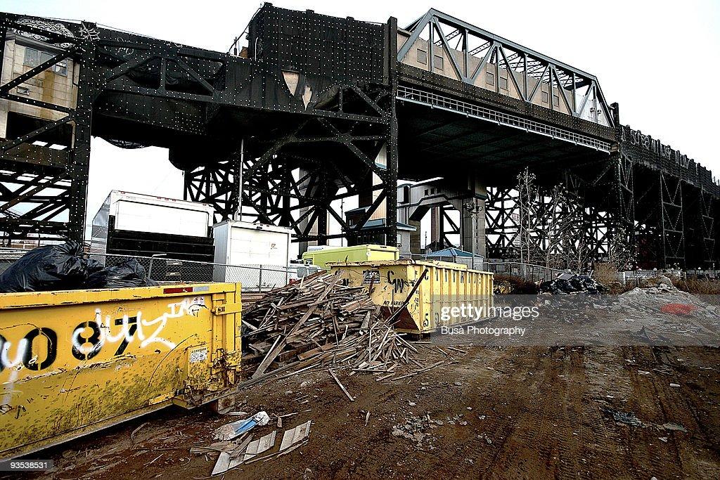 Rail Bridge in Red Hook, Brooklyn  : Stock Photo