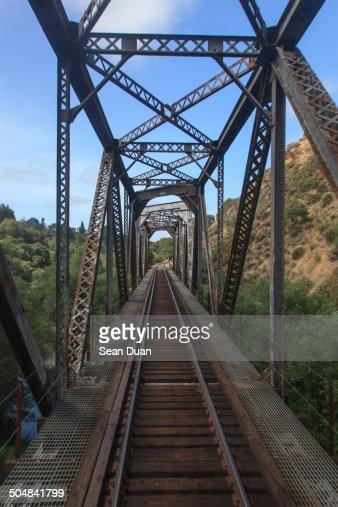 Rail Track On Bridge