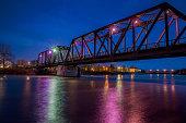 CP Rail Train Bridge at Night