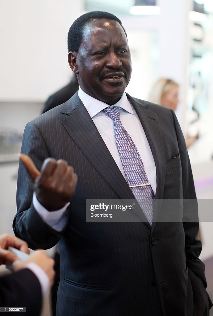 <a gi-track='captionPersonalityLinkClicked' href=/galleries/search?phrase=Raila+Odinga&family=editorial&specificpeople=2147626 ng-click='$event.stopPropagation()'>Raila Odinga</a>, Kenya's prime minister, speaks to the media in an exhibition hall during day one of the Saint Petersburg International Economic Forum 2012 (SPIEF) in Saint Petersburg, Russia, on Thursday, June 21, 2012. Russia's showcase investment conference, a three-day event, features foreign executives including Citigroup Inc.'s Vikram Pandit and Goldman Sachs Group Inc.'s Lloyd Blankfein. Photographer: Simon Dawson/Bloomberg via Getty Images