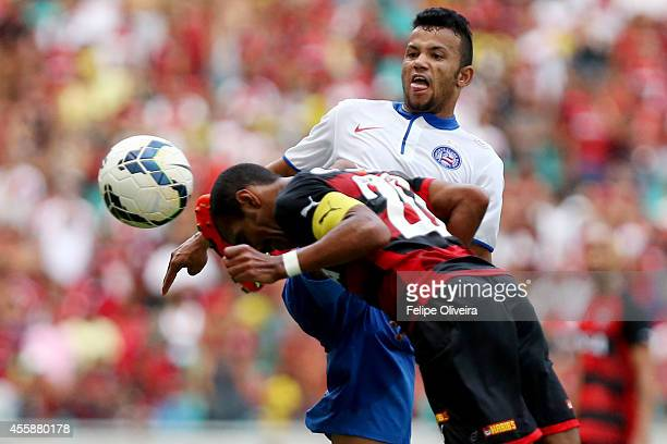 Railan of Bahia in action during the match between Vitoria and Bahia as part of Brasileirao Series A 2014 at Arena Fonte Nova on September 21 2014 in...