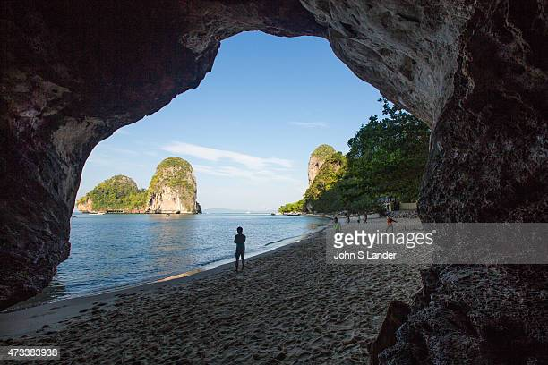 Railay also spelled Rai Leh is a peninsula between the city of Krabi and Ao Nang It is accessible only by boat because of limestone cliffs that shut...