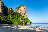 Railay west beach located at the Noppharat Thara Beach National Park in Krabi province, Thailand.