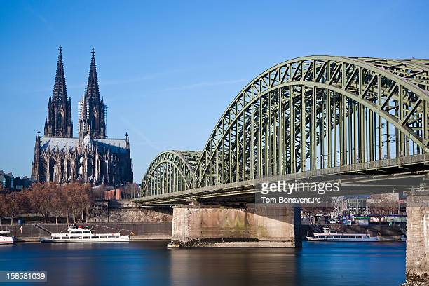 Railbridge and Cologne Cathedral